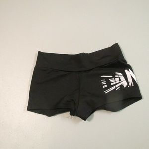 Girls Black Motion Wear Dance Shorts Size 12-14